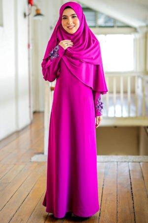 Jubah Diyana Purple Magenta