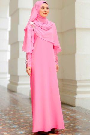 Jubah Diyana Pink