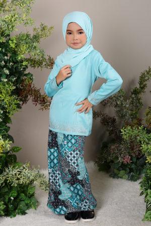 Kurung Elsa Kids Mint Green
