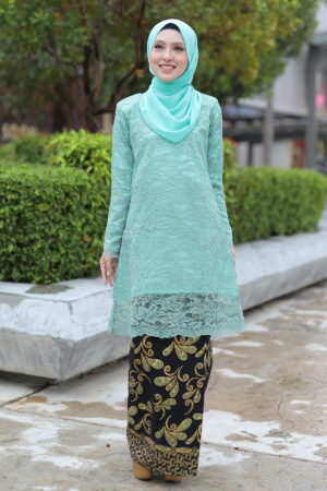Kurung Karnoli Mint Green