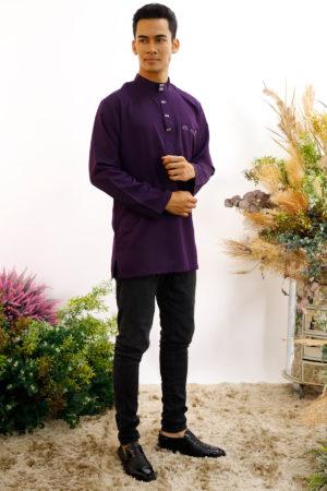 Kurta Abu Bakar Dark Purple