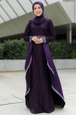 Dress Lareenda Dark Purple