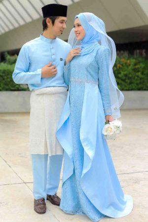 Set Couple Lareenda Baby Blue