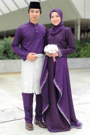 Set Couple Lareenda Dark Purple