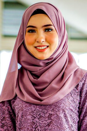 Shawl Chiffon Dusty Purple