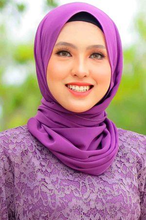 Shawl Chiffon Purple Keladi