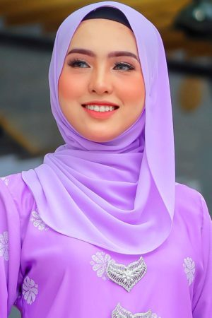 Shawl Chiffon Purple Lilac