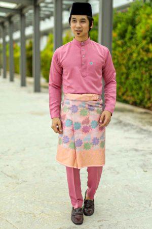Baju Melayu Crystal Silk Dusty Pink