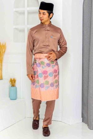 Baju Melayu Crystal Silk Mocha