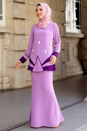 Kurung Nedeera Purple Lilac