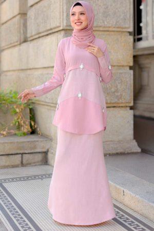 Kurung Camelia Pink