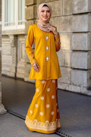 Kebaya Sareema Mustard