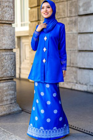 Kebaya Sareema Royal Blue