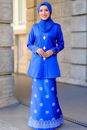Kebaya Sareema Royal Blue