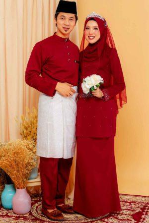 Set Couple Youna Maroon