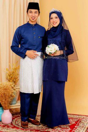 Set Couple Youna Navy Blue