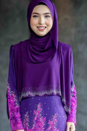 Cape Raudhah Dark Purple