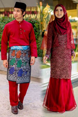 Set Couple Deena Maroon (FULL SET)