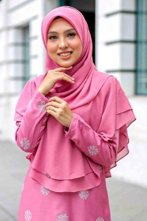 Khimar Umairah Dusty Pink