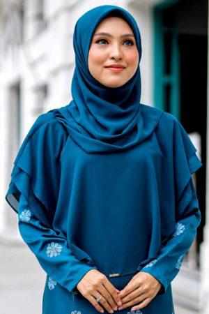Khimar Umairah Teal Blue