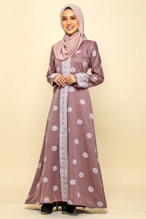 Jubah Songket Rose Gold