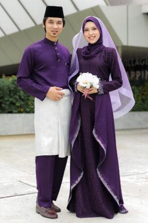 Set Couple Lareenda Dark Purple (FULL SET)
