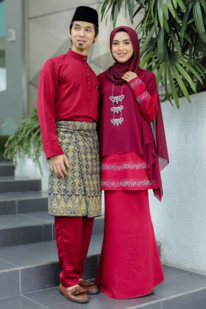 Set Couple Ratu Maroon (FULL SET)