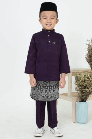 Baju Melayu Kids Dark Purple