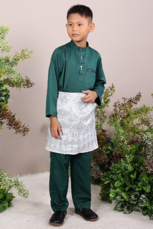 Baju Melayu Kids Emerald Green