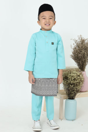 Baju Melayu Kids Mint Green