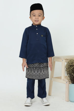 Baju Melayu Kids Navy Blue