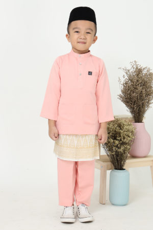 Baju Melayu Kids Peach