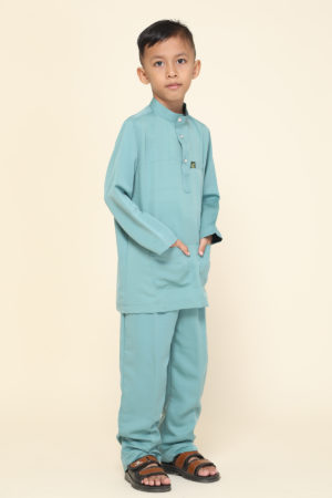 Baju Melayu Kids Pine Green