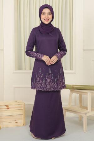Kurung Elisa Dark Purple