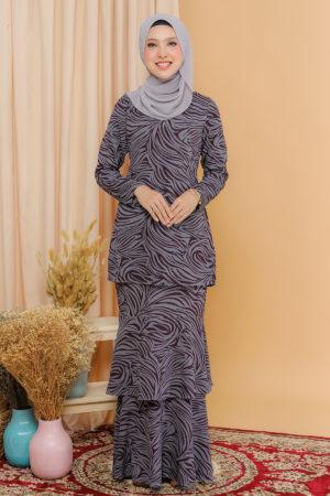 Kurung Aishaa Dark Grey