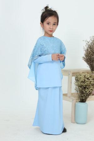 Kurung Meleana Kids Baby Blue