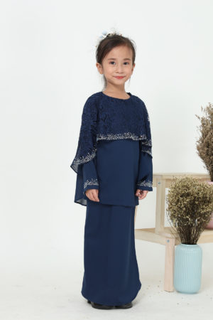 Kurung Meleana Kids Navy Blue