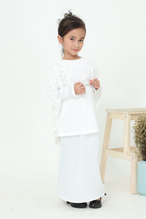 Kurung Meleana Kids Off White