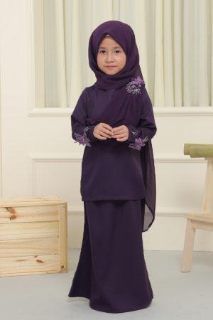 Kurung Seri Kids Dark Purple