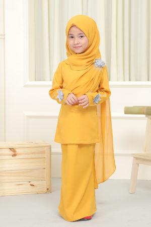Kurung Seri Kids Mustard