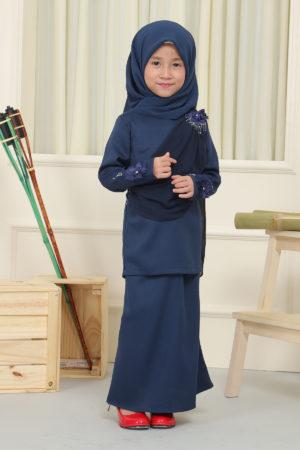 Kurung Seri Kids Navy Blue