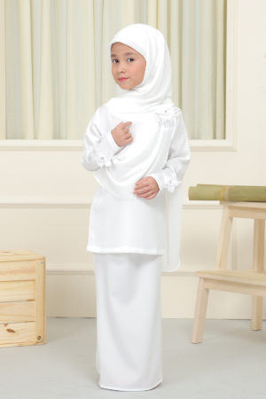 Kurung Seri Kids Off White