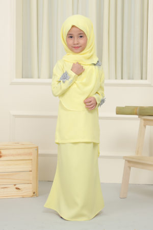 Kurung Seri Kids Soft Yellow