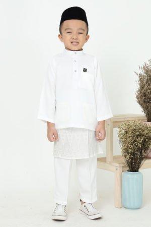 Baju Melayu Kids Off White