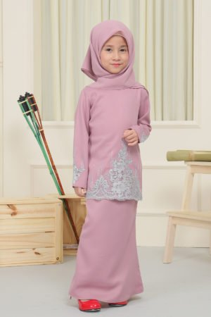Kurung Elisa Kids Dusty Purple