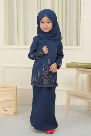 Kurung Elisa Kids Navy Blue