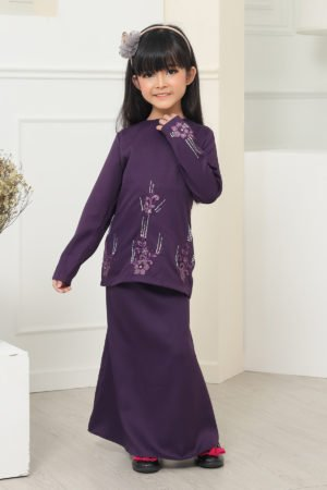 Kurung Athea Kids Dark Purple