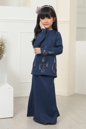 Kurung Athea Kids Navy Blue