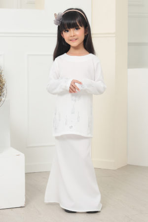 Kurung Athea Kids Off White