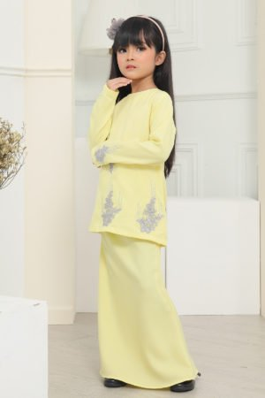 Kurung Athea Kids Soft Yellow
